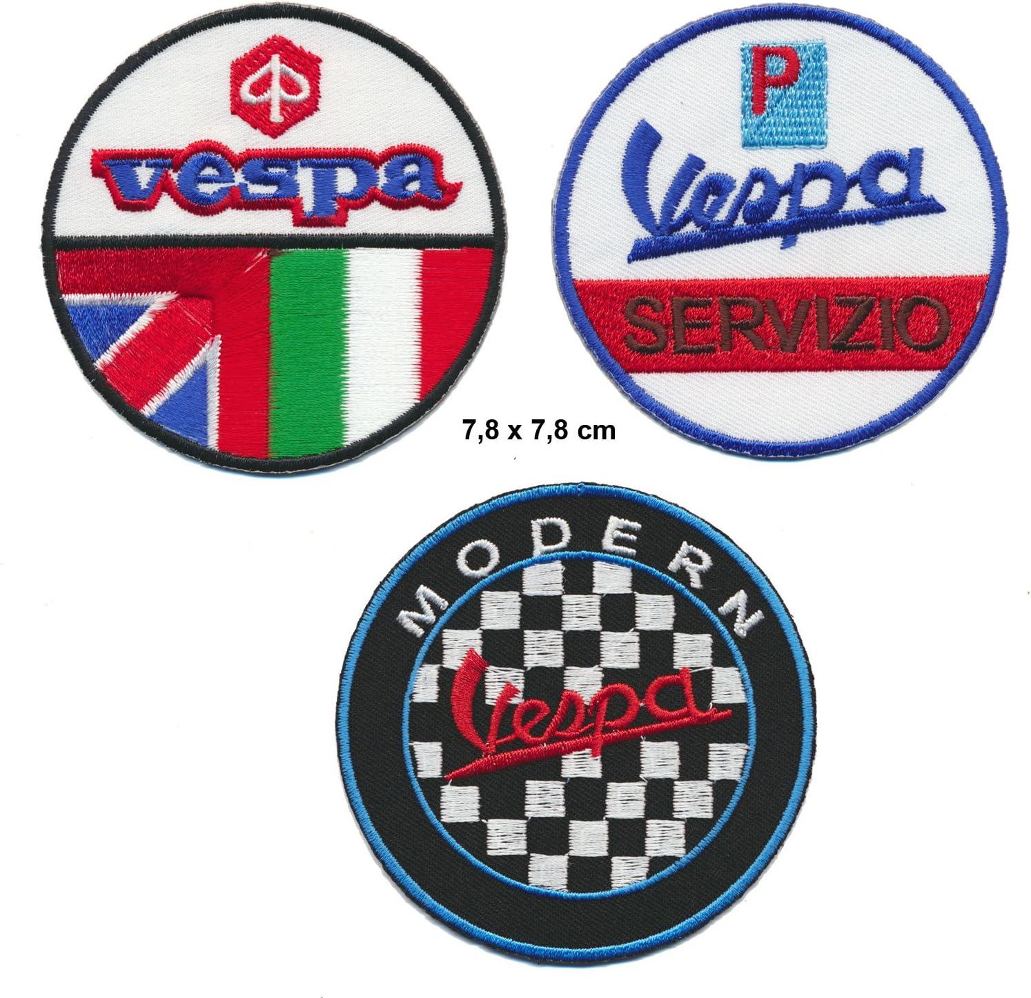 Vespa parche para planchar Patch 3pieza Moto Scooter Italia Turbo Envío