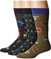 HUE - Big Buck Socks with Half Cushion 3-Pack