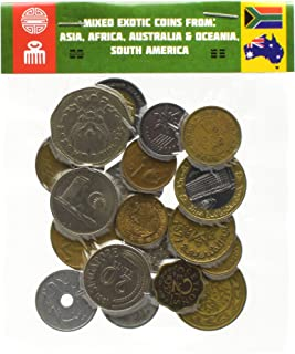 LOT of 20 Exotic Coins from Asia, Middle East, Africa, Oceania, South America