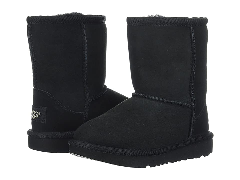 UGG Kids Classic II (Toddler/Little Kid) (Black) Kids Shoes