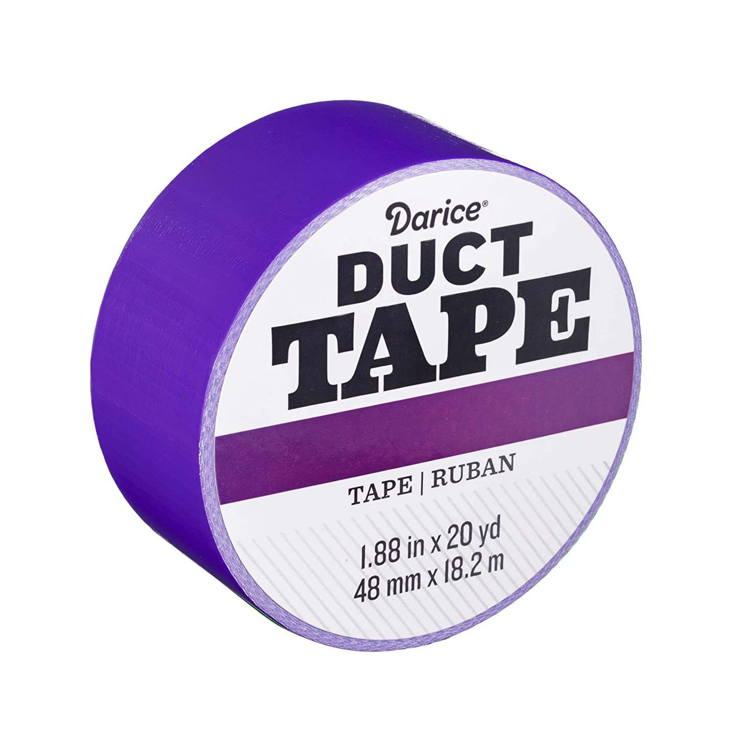 Darice 30079654 Roll: Violet Purple, 1.88 Inches x 20 Yards Duct Tape, bdivndyyc
