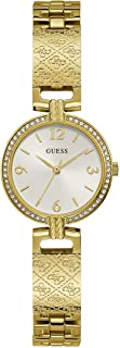 GUESS Women's Quartz Watch with Stainless Steel Strap, Gold, 14 (Model: GW0112L2)