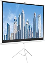 AmazonBasics 84 Inch 4:3 Portable Projector Screen - White