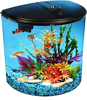 AquaView 3.5 gallon Fish Tank with Power Filter & LED Lighting