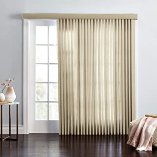 BrylaneHome Embossed Vertical Blinds - Putty, 78I W 84I L