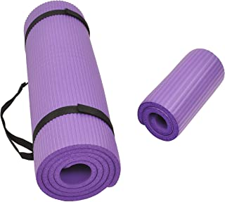 BalanceFrom GoYoga+ All-Purpose 1/2-Inch Extra Thick High Density Anti-Tear Exercise Yoga Mat and Knee Pad with Carrying S...