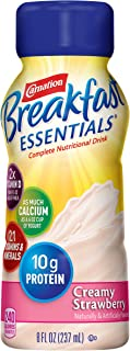 Carnation Breakfast Essentials Ready-to-Drink, Creamy Strawberry, 8 Ounce Bottle (Pack of 24) (Packaging May Vary)