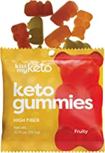 Kiss My Keto Gummies with MCT Oil - Low Carb Candy - Smart Keto Friendly Snacks - Low Sugar & Gluten Free - Only 3g Net Ca...