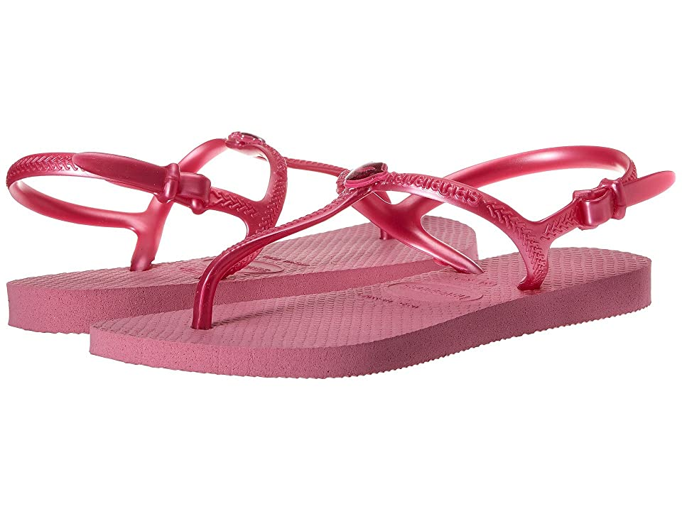 Havaianas Kids Freedom Sandals (Toddler/Little Kid/Big Kid) (Lipstick Rose) Girls Shoes