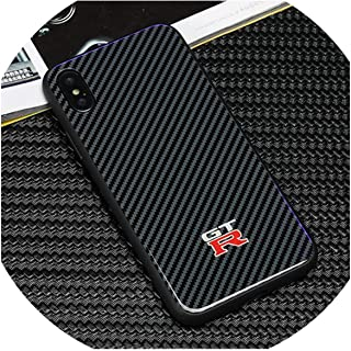 Fashion Racing Sports AMG GTR RS Motorsport Carbon Fiber Tempered Glass Back Cover Phone Case for iPhone X XS Max XR 7 8 6 Plus,for iPhone 6 6S,GTR