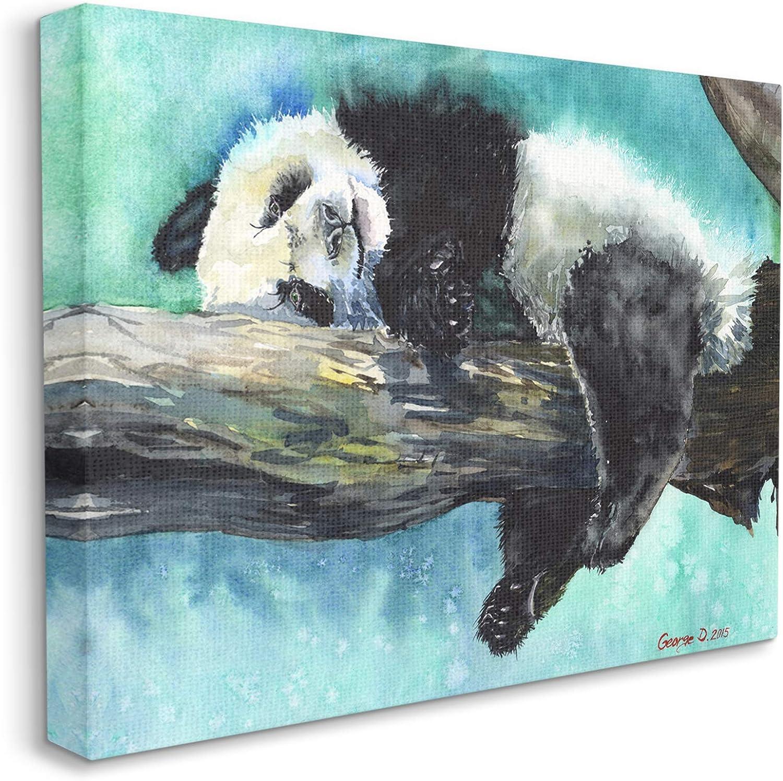 Stupell Industries Sleepy Baby Panda Blue Vibrant favorite Tree Mail order Over in