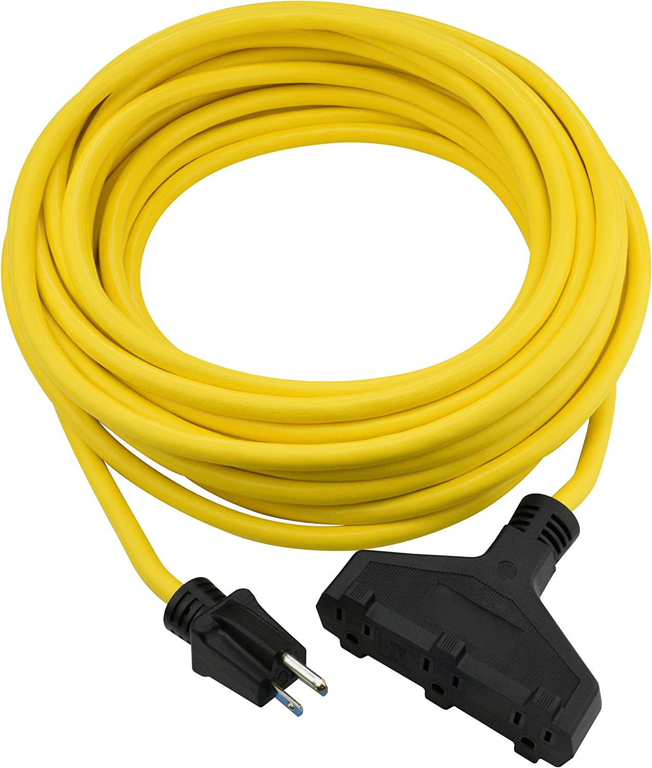 Clear Power 50 ft 3 Outlet Cord specialty shop Duty Max 85% OFF Outdoor Heavy 12 Extension