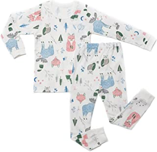 OllCHAENGi Little Boys Girls Kids Cotton Pajama Sleepwear Set Long Sleeve 18M-12Y Car Friends