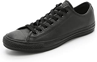 Converse All Star Ox Leather Baskets Monochrome Noires