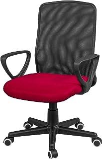 comprar comparacion duehome Silla de Oficina, Silla para Escritorio o Estudio, Medidas: 58x88,5x55cm, Coco (Rojo)
