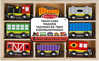 comprar comparacion Melissa & Doug- Train Cars Juguetes Trenes de Maderacon 8 Piezas, 3+ Años, Multicolor (15186)