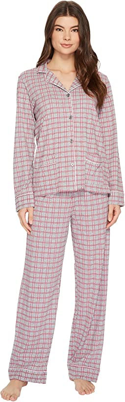 DKNY - Folded Jersey Notch Collar PJ