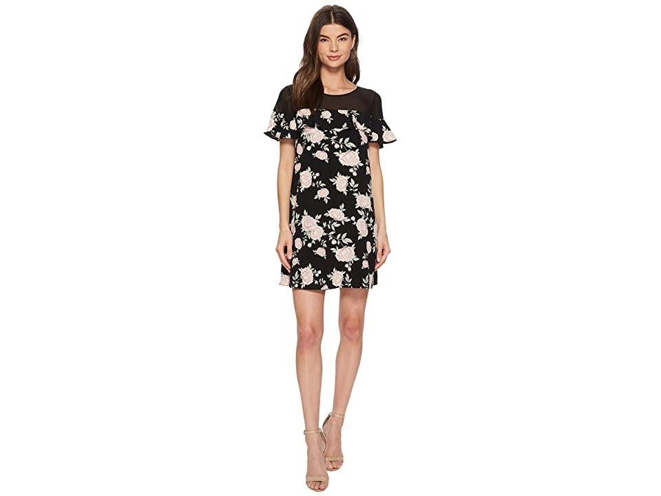 kensie English Roses Dress KS3K8188 (Black Combo) Women