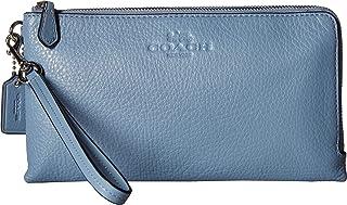 2c9297512fed1 COACH Women s Pebbled Leather Double Zip Wallet