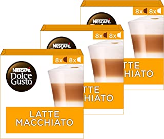 Nescafé Dolce Gusto Latte Macchiato Koffie Cups, 48 Stuks (3 x 16 Capsules)