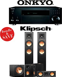 Onkyo TX-RZ1100 9.2-Channel Network A/V Receiver + Klipsch RP-250F + Klipsch RP-250C + Klipsch RP-240S + Klipsch R-112SW - 5.1-Ch Home Theater Package