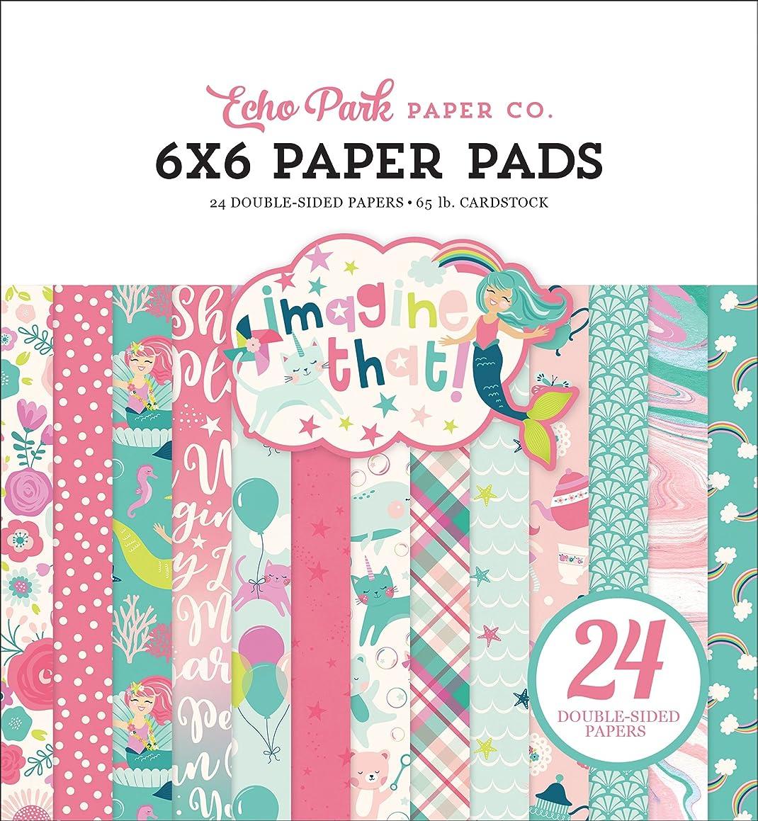 Echo Park Paper Company Imagine That Girl 6x6 Paper Pad