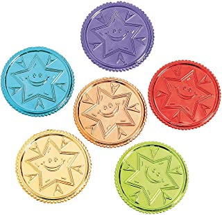 Fun Express Bright Idea! Kindness Coins for Kids (144 Pieces) 6 Bright Colors
