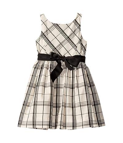 Polo Ralph Lauren Kids Plaid Taffeta Dress (Little Kids) (Cream/Black) Girl