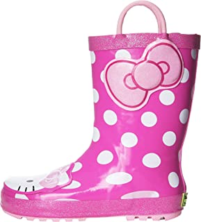 Western Chief Girls Hello Kitty Waterproof Character Rain Boots with Easy on Handles, Hello Kitty Cutie, 11 M US Little Kid