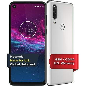 Motorola One Action | Unlocked | Made for US by Motorola | 4/128GB | 16MP Camera | White