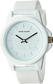 Anne Klein Women's Silicone Strap Watch