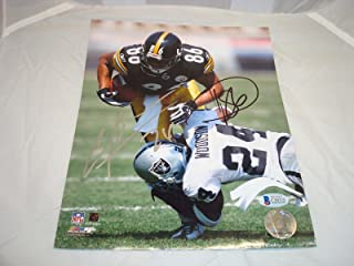 Charles Woodson & Hines Ward Signed 8x10 Photo Beckett BAS COA Raiders Steelers - Beckett Authentication