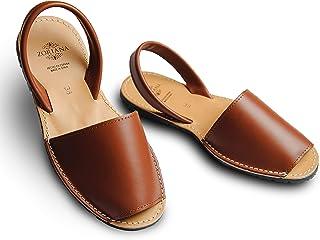 صندل نسائي فلات جلد طبيعي من زوريانا – حذاء طبي كاجوال للسيدات – صندل موضة فستان مصيف بناتي مستورد