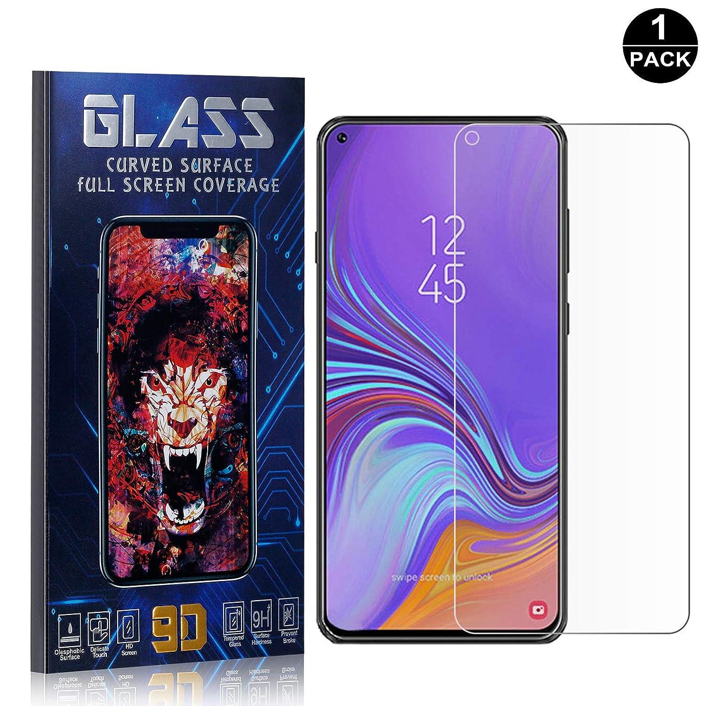 助言する回路クリークGalaxy A8S ガラスフィルム, Zeebox 防指紋 液晶強化ガラス, 超薄 高透過率 キズ防止 液晶保護フィルム Galaxy A8S 対応, 1枚入