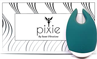 Pixie - Clitoris Vibrator - Magical Sex Toy with 10 Powerful Settings for Women and Couples, Waterproof Body Safe Silicone, Rechargeable, Quiet, by Sweet Vibrations (Jade)
