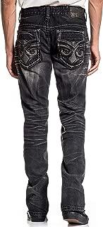 Ace Fleur Rhone Slim Straight Leg Fashion Denim Jeans Pants for Men