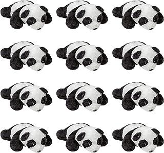 Wildlife Tree 12 Pack Panda Mini 4 Inch Small Stuffed Animals, Bulk Bundle Zoo Animal Toys, Jungle Safari Party Favors for...