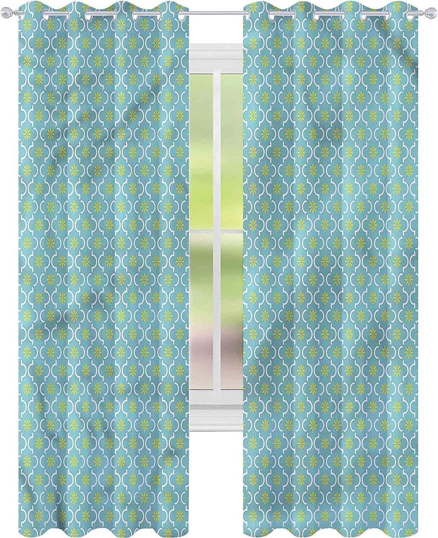 Window Curtain Drape Brand Cheap Sale Venue High order Floral Retro Spring Pattern W52 x Season L8