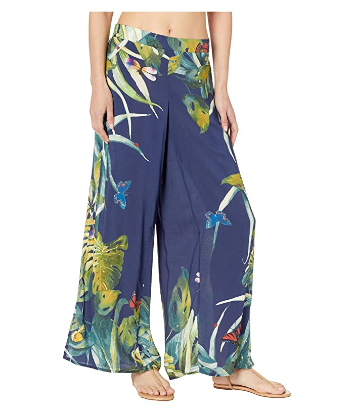 Vince Camuto Wrap Cover-Up Pants (Deep Sea) Women