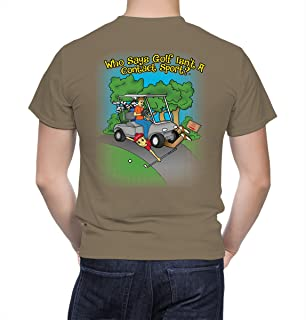 Funny Novelty Golf Graphic T-Shirt for Men and Dads Who Love Golfing.