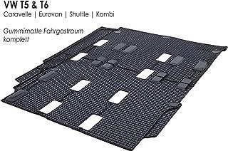 Gummimatten passend bei Bus Shuttle Eurovan T5 T6 Original Qualität Gummi Fußmatte hinten (Fahrgastraum)