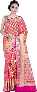 Women's Kataan Silk Blend Indian Ethnic Banarasi Saree with Unstitched Blousepiece(1234)