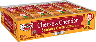Keebler Cheese and Cheddar Sandwich Crackers, Single Serve, 1.38 oz Packages, 8 Count(Pack of 6)