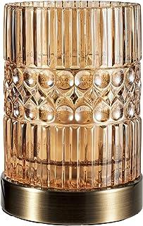 Pauleen 48126 luminaria Crystal Elegance, máx. 25W E27, Vidrio/ámbar/latón, lámpara de sobremesa 230 V
