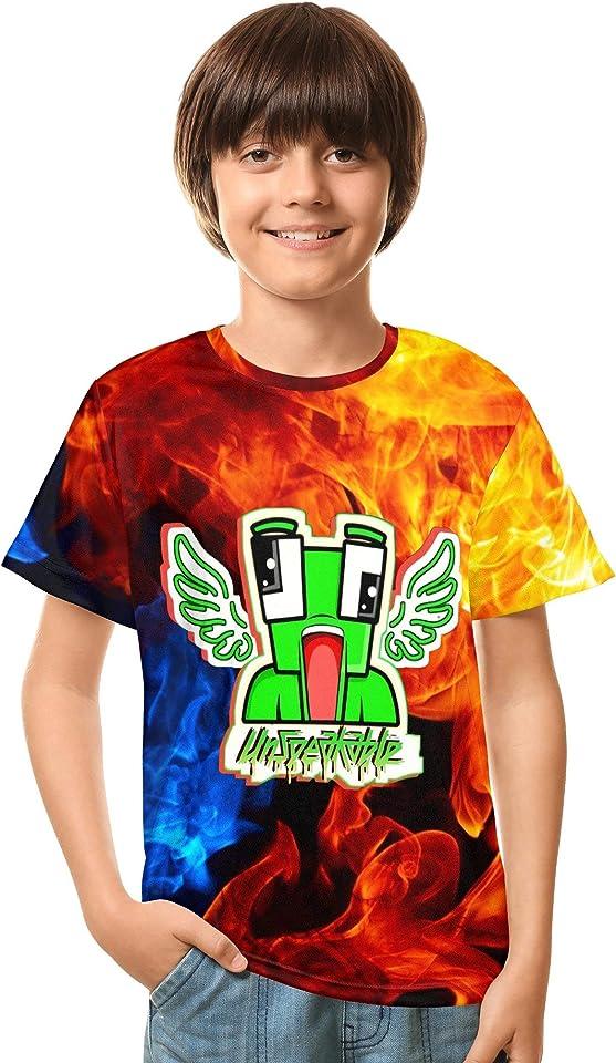 Jaikhar 3D Unisex T-Shirt Soft Double-Sided Fashion Shirts for Boys Girls Teens