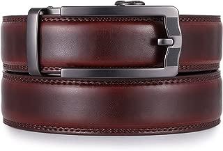 Mio Marino Ratchet Belts for Men - Genuine Leather Dress Belt - Automatic Buckle