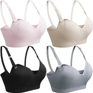 COOSHCO 3PACK Women's Seamless Nursing Maternity Bra Push Up Comfort Sleeping Breastfeeding Bra