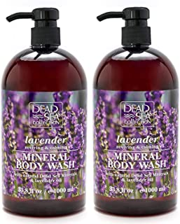 Dead Sea Collection Mineral Body Wash with Lavender Oil Reviving and Calming 67.6 fl.oz Set of 2