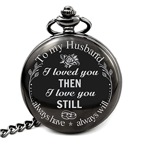 66149a72a0d Pocket Watch to My Husband I Loved You Then I Love You Still Always Have  Always