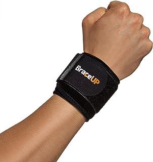 BraceUP® کمربند مچ دست بند و پشتیبانی، یک اندازه قابل تنظیم (سیاه)، 1 PC
